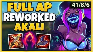 *AKALI REWORK* BIGGEST ONE-SHOTS POSSIBLE  (1 AUTO 1 KILL) - League of Legends