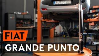 Skifte Bilbatteri FIAT GRANDE PUNTO: verkstedhåndbok