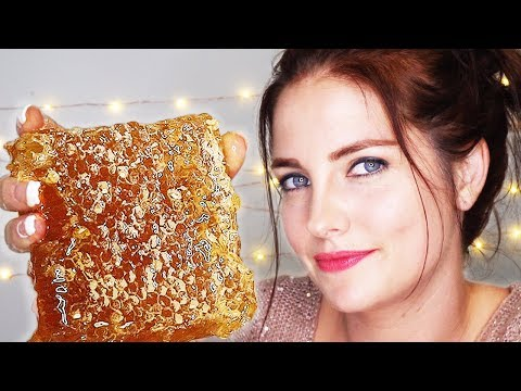 ASMR- Eating Raw Honeycomb | EXTREMELY Sticky Mouth Sounds! 🍯