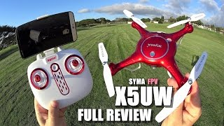 sYMA X5UW FPV Camera Drone - Full Review - UnBoxing, Inspection, Setup, Flight Test, Pros & Cons