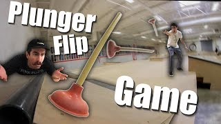 Game of PLUNGER! | Plunger Trick Shot Game