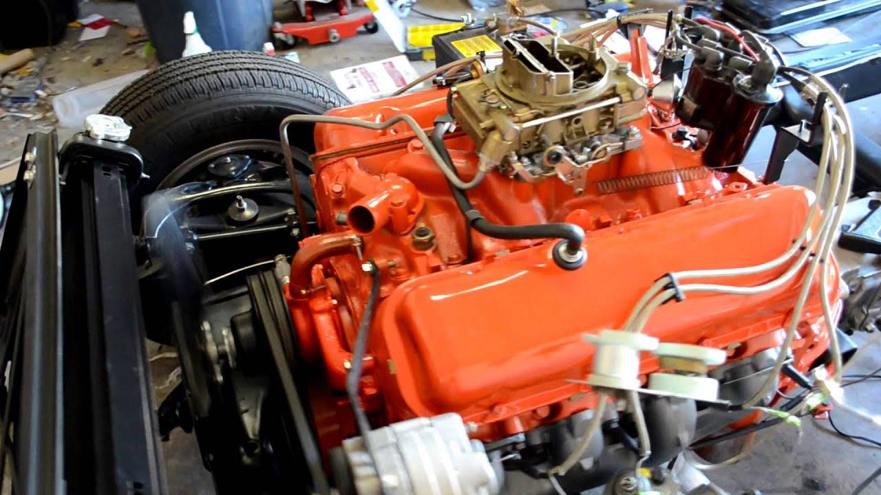 1966 Corvette Frame off Restoration 427 first start - YouTube