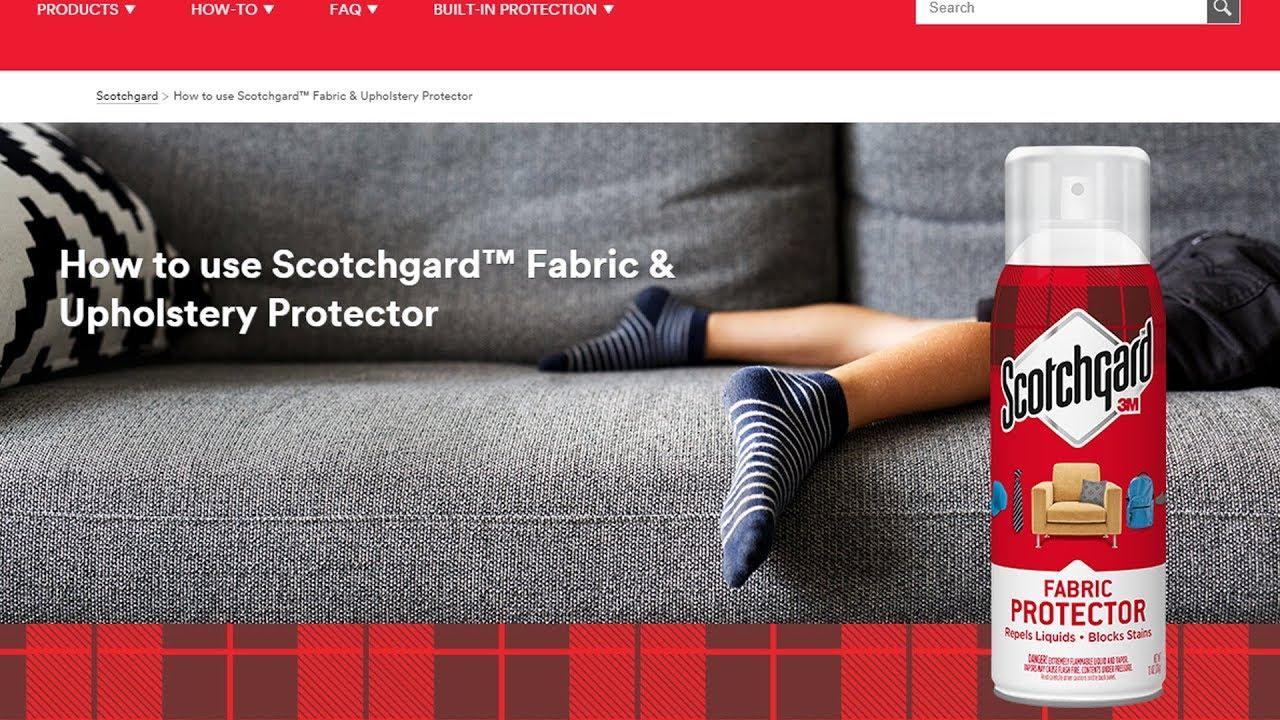 Using Scotchgard Fabric Protector