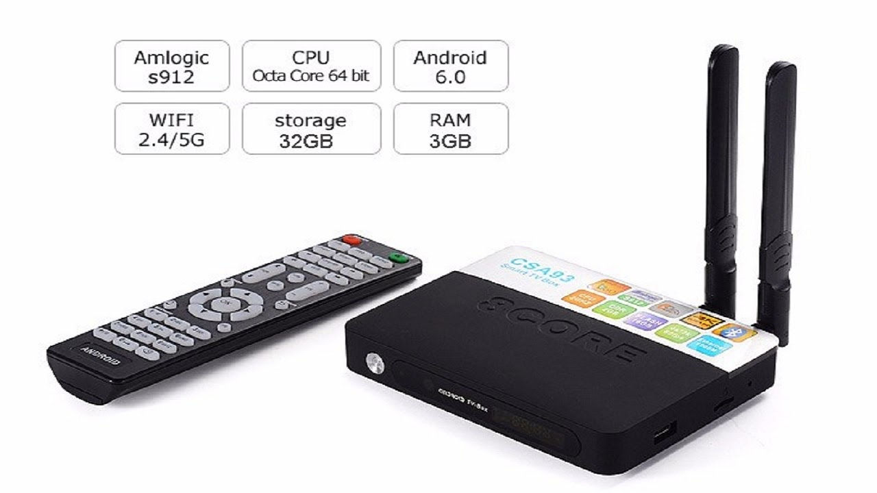 ee41c6ce880cd CSA93 Amlogic S912 Android TV Box Octa core ARM Cortex-A53 3G 16G Android  6.0 TV Box 4K Media Player - YouTube