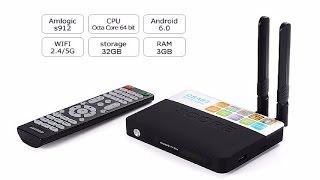 CSA93 Amlogic S912 Android TV Box Octa core ARM Cortex-A53 3G/16G Android 6.0 TV Box 4K Media Player