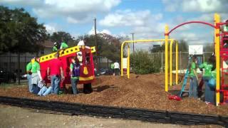 Kaboom Build Day: Building A Playground At Ella Austin Community Center