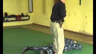 наружный осмотр под угрозой огнестрельго оружия, противник в положении лежа с дальнейшим надеванием