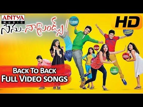 Nenu Naa Friends    Back to Back Video Songs    Sandeep, Sidhartha Varma, Anjana