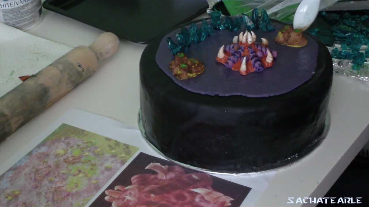 Starcraft Ii Cake Zerg Base Youtube