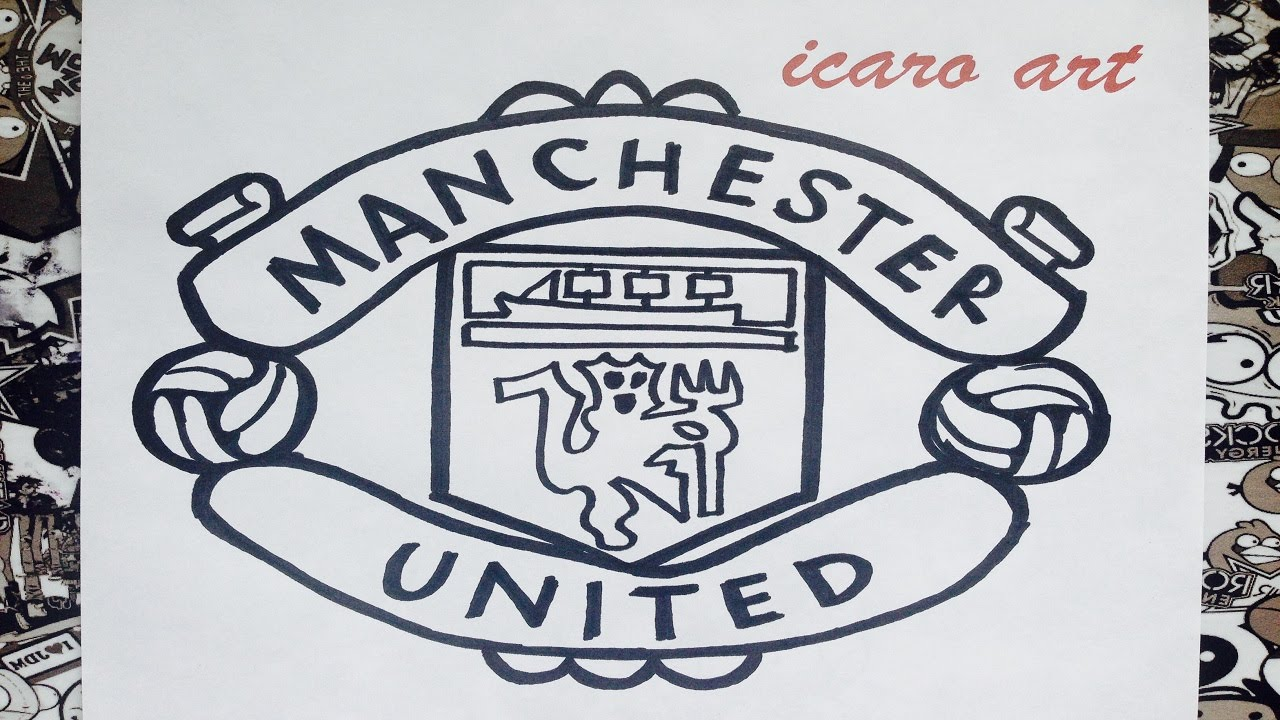 como dibujar el escudo de manchester united how to draw manchester united youtube como dibujar el escudo de manchester united how to draw manchester united