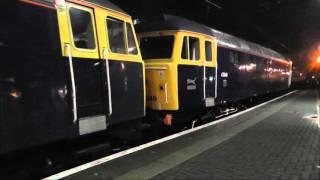 Diverted Sleeper at Newcastle - 1S26 Euston to Glasgow - 90045, 47848 & 47843 -  9th Jan 2016