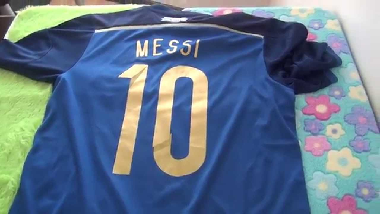980b62286ea Argentina #10 Messi home soccer jersey 2014 World Cup - YouTube