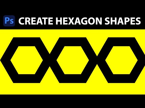 Photoshop CC / 14.1 : Create hexagon shapes in Photoshop
