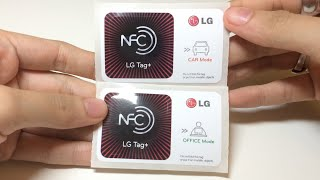 What Original Genuine LG NFC smart tags NTAG203 OFFICE + CAR for LG Type 2 looks like?
