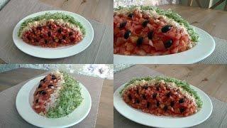 Вкусный салат на праздничный стол. Салат Арбуз. Конкурс!!!