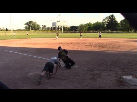 WWE vs NBC Sports Peacocks - Coed Spring Slow Pitch Softball League - Video - June 20, 2017