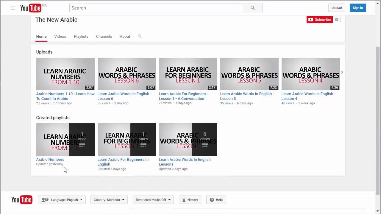 Learn Arabic Online For Beginners With TheNewArabic Channel