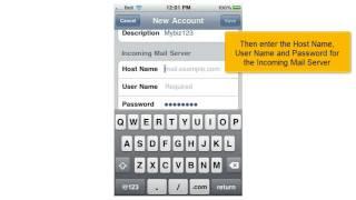 Instellen e-mail op je iPhone
