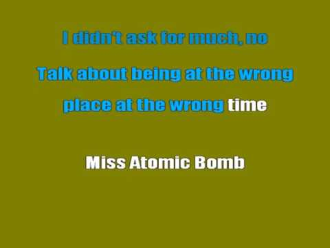 The Killers - Miss Atomic Bomb (Karaoke Lyrics)