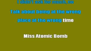 The Killers - Miss Atomic Bomb (Karaoke Lyrics)