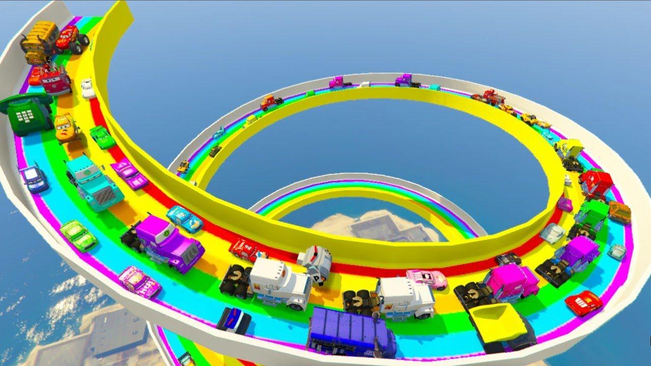 Monster McQueen Truck Hot Wheels Cars3 Mack \u0026 Friends All Cars Disneyland Toys Racers