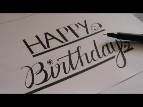 how to write in cursive - cursive fancy letters happy birthday ...