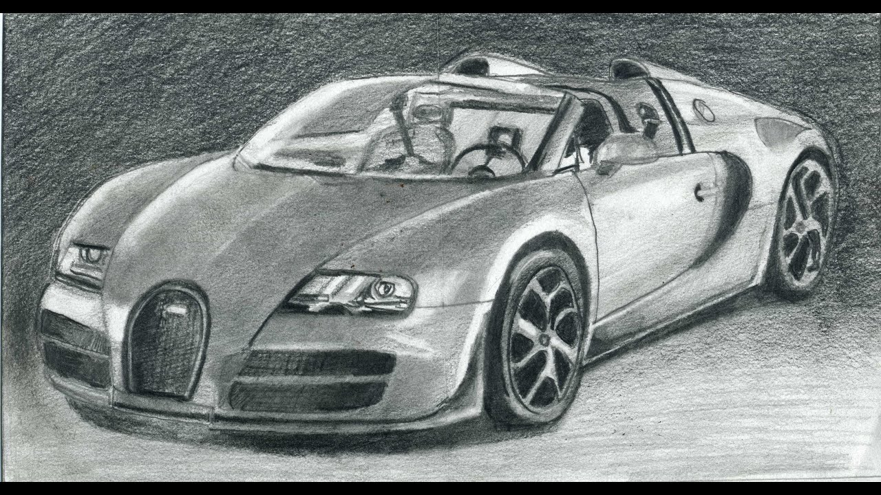 Youdraw How To Draw Bugatti Veyron Super Car Step By Step Youtube