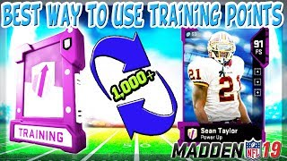 MADDEN 19 ULTIMATE TEAM BEST WAY TO USE TRAINING POINTS AND MAKE 91+ OVR ELITES!!!