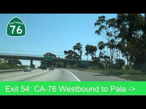 Driving from Orange County to San Diego via I-5, I-15, CA-78
