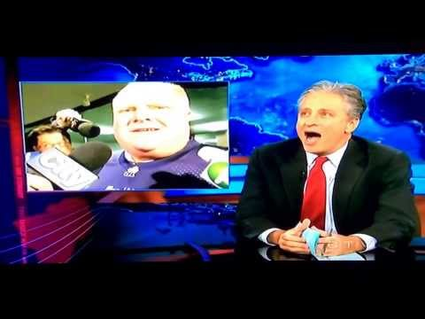 The Daily Show's Jon Stewart on Toronto Mayor's Rob Ford comments