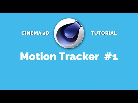 Cinema 4D Motion Tracker Tutorial #1 [deutsch]