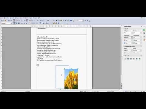 OpenOffice Bild neben Text anordnen