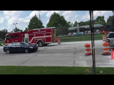 2 Alarm Car Fire Livonia, MI Sept 6th, 2016
