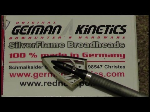 German Kinetics SilverFlame 100 gr. Fixed Broadheads at 50 yds.