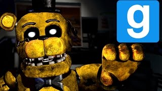 GOLDEN FREDDY! | Freddy Fazbear's Pizza | Gmod Horror Map (Part 3)