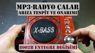 MP3-RADYO Çalar Tamiri, 8002B Amplifikatör Entegre Değişimi, Mini Ses Sistemi Arıza Onarımı