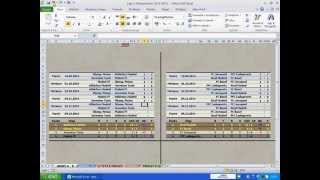 Champions League Football Table With Microsoft Excel
