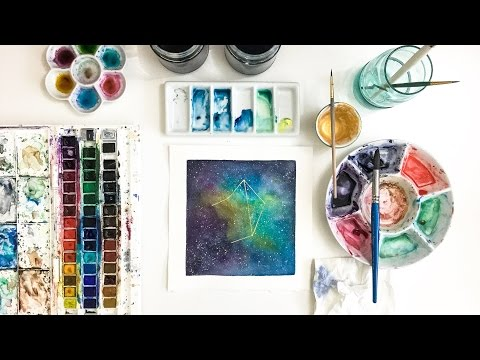 Constellation Watercolor Libra | Fast Motion Art