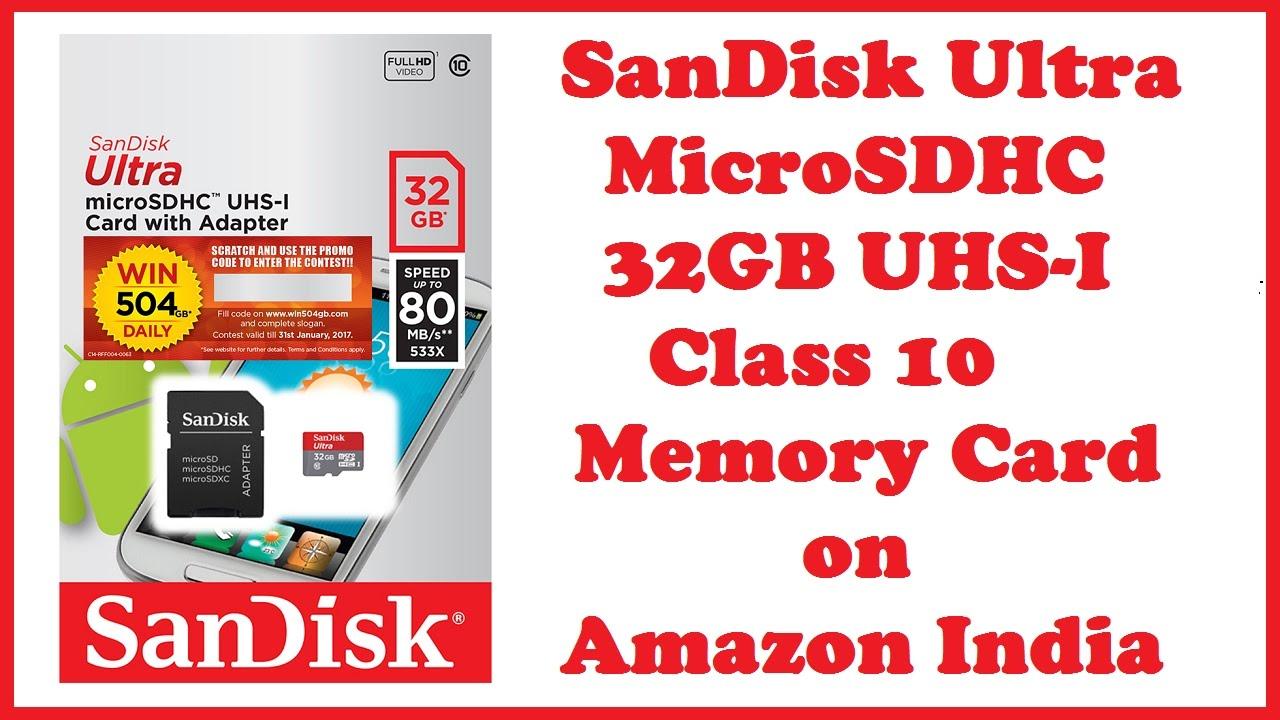 Sandisk Ultra Microsdhc 32gb Uhs I Class 10 Memory Card On Amazon Micro Sd India