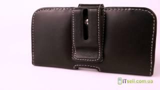 Кожаный чехол Pdair (футляр на пояс) для Samsung i9500 Galaxy S4