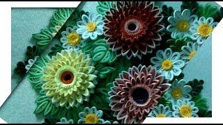 Картины ручной работы в садике/ленты/квиллинг/бисер/обзор