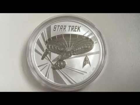 Perth Mint 2016 Tuvalu - USS Enterprise NCC-1701 50th Anniversary Bullion Coin