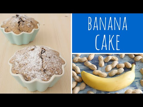 Banana Cake Recipe With Peanut Butter & Dark Chocolate - Mini Cake | Recipe Diary