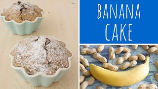 Banana Cake Recipe With Peanut Butter & Dark Chocolate - Mini Cake | Recipe Diary