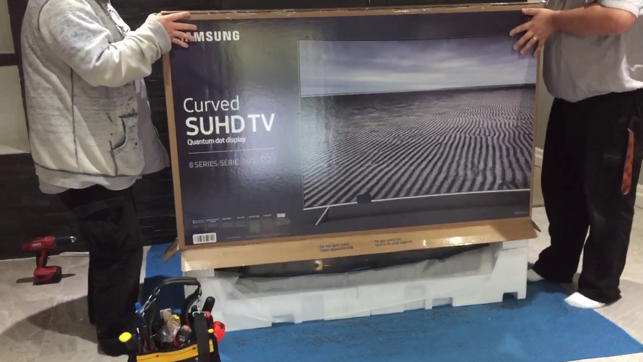 samsung tv 8 series. samsung un65ks8500 curved 65-inch 4k tv partial unboxing (very quick) - youtube tv 8 series