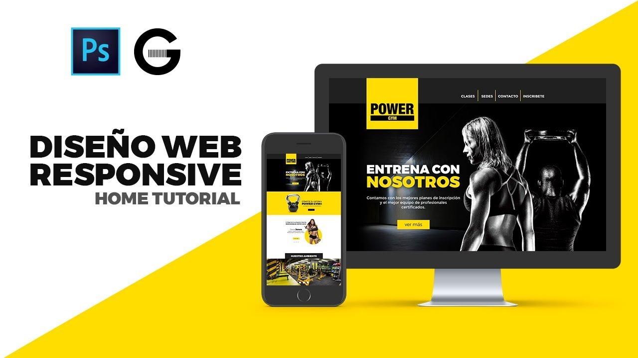 Photoshop Tutorial | DISEÑO HOME WEB RESPONSIVE | HOME RESPONSIVE WEBSITE DESIGN