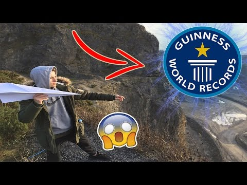 HUGE PAPER AIRPLANE VS 1000FT CLIFF😱😱