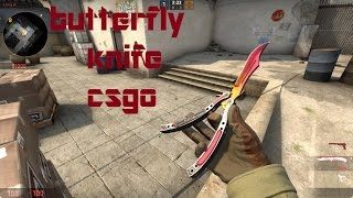 Counter Strike Source: Butterfly Knife Fade Csgo (v34 and v84)