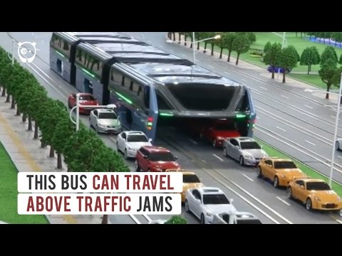 Elevated Bus That Drives Above Traffic Jams