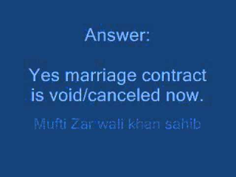 Marriage contract is void if husband says to wife that You are Farigh(free) from my side